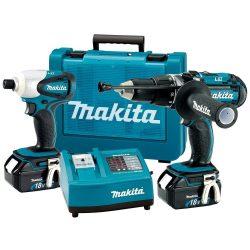 Makita LXT202 18-Volt Hammer Drill Impact Driver Combo Kit