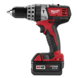 Milwaukee 2602-22 M18 18-Volt Cordless 1-2-Inch Hammer Drill Driver Kit